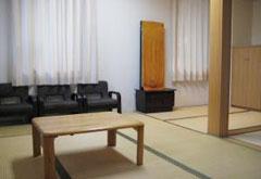平和の森会館1階和室控室